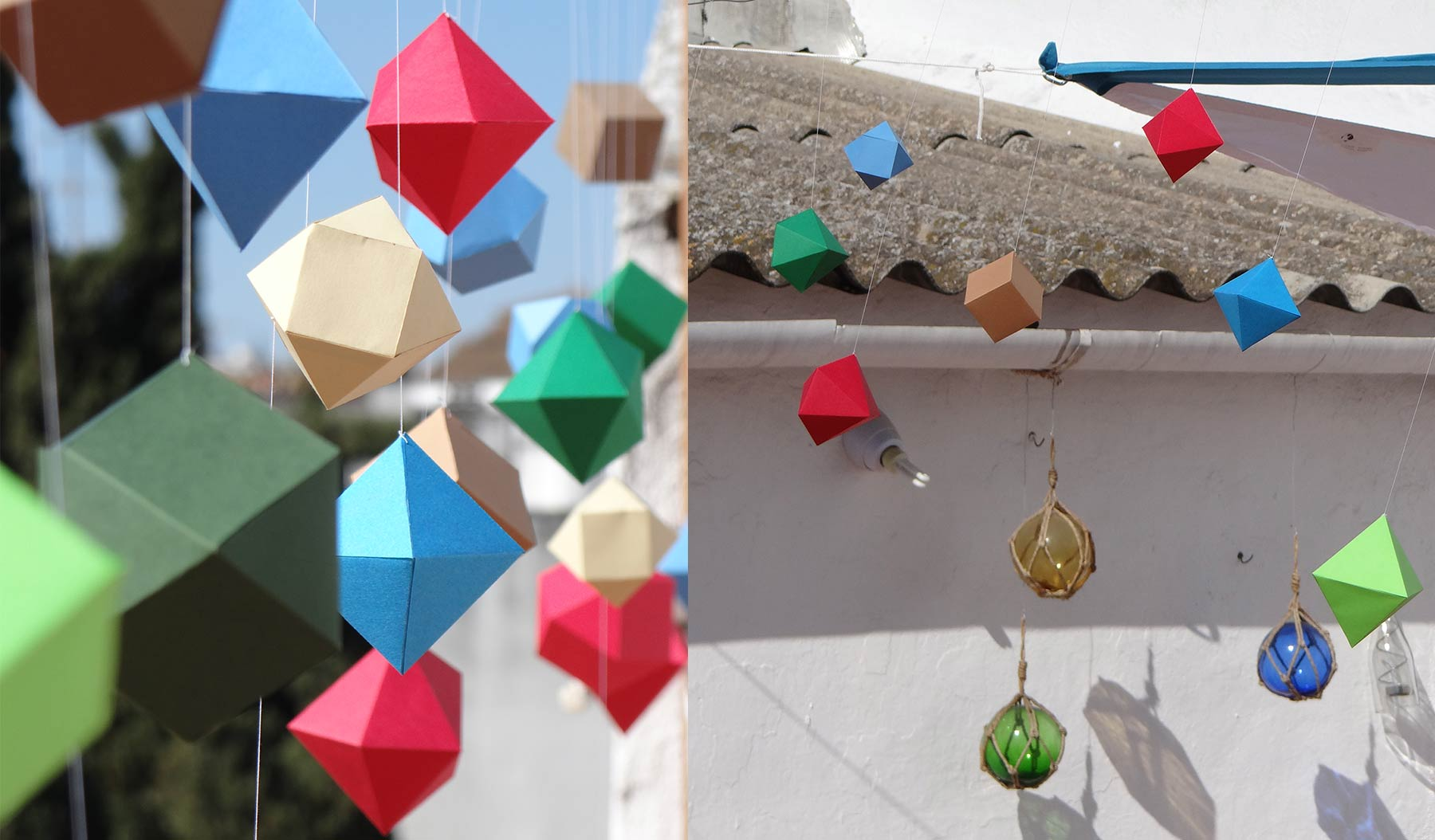 Details of the hanging geometrical items