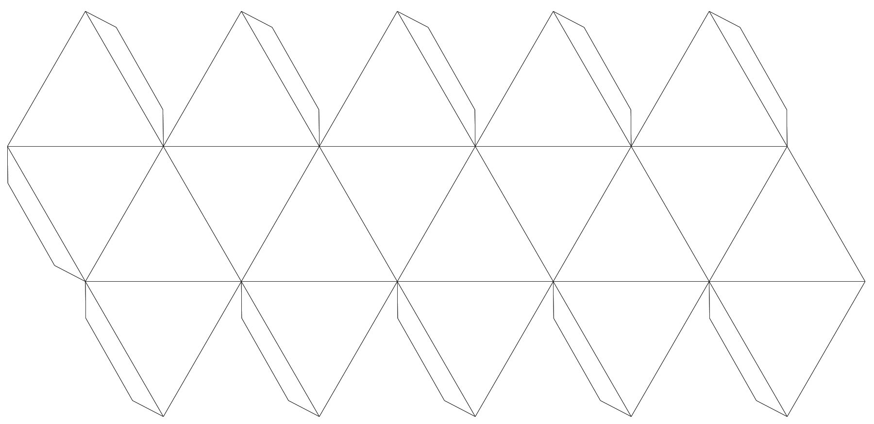 lines to cut out and fold a shape