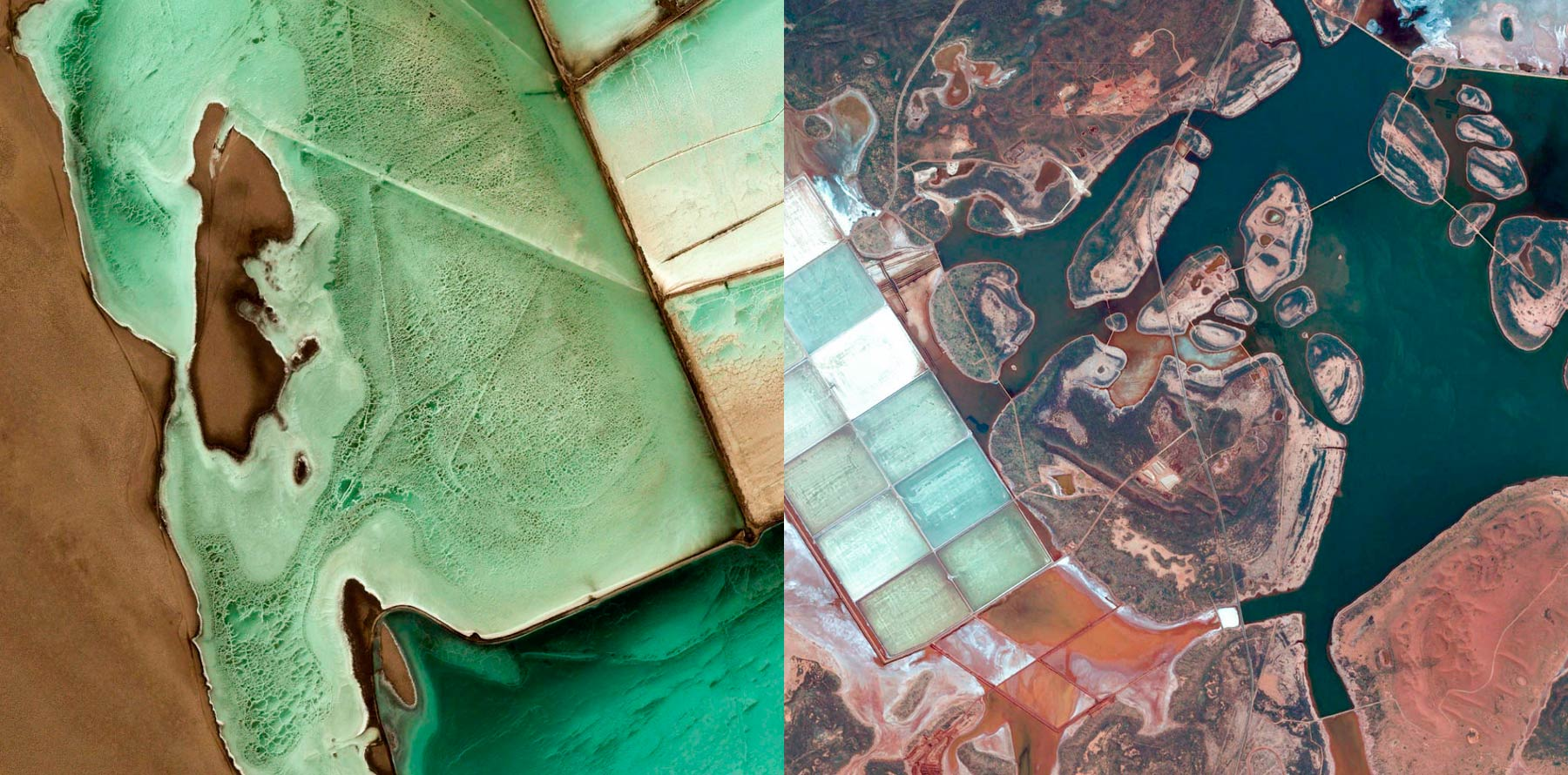 Landscape satellite view, with organic shapes