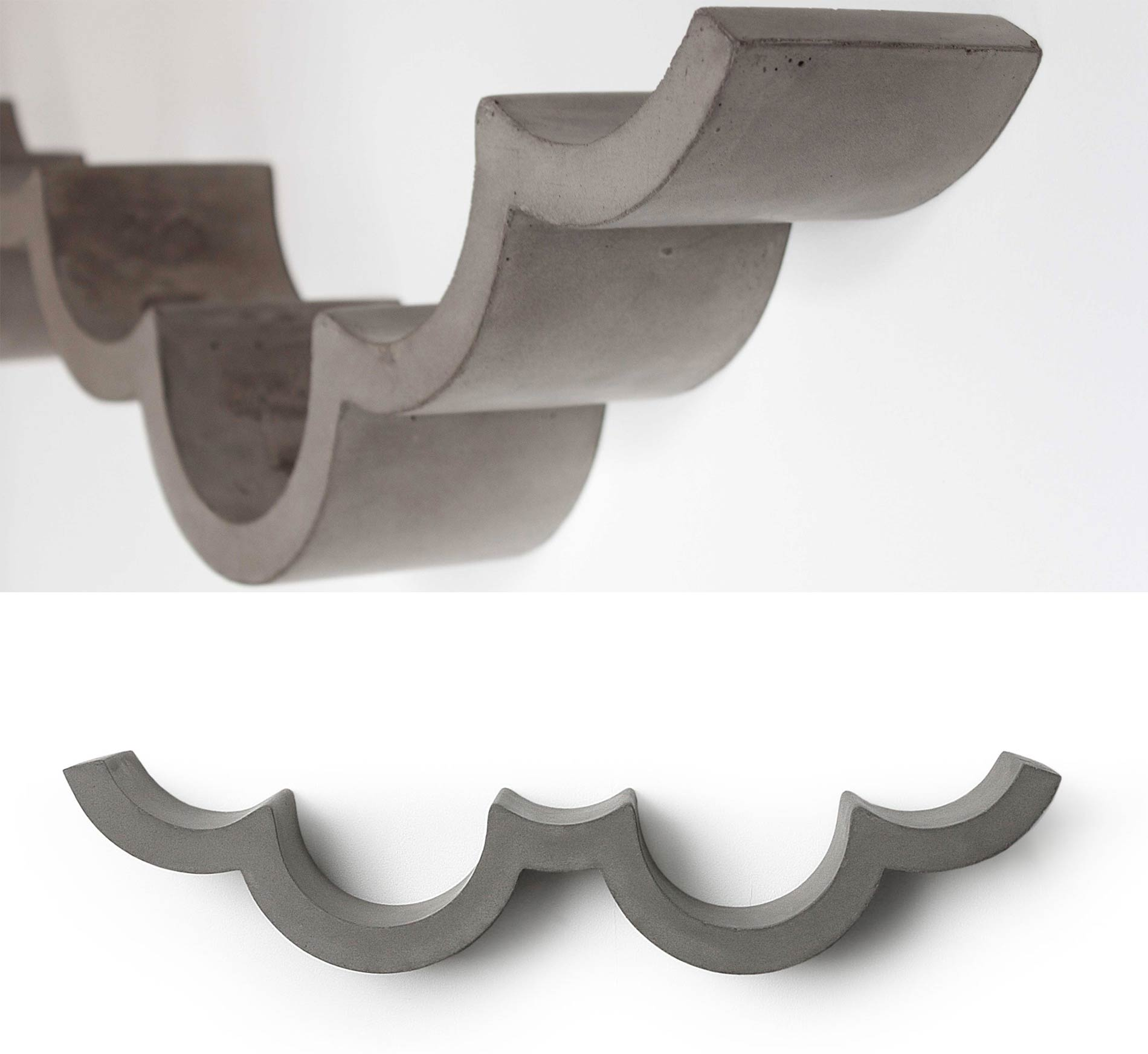 Images of a lumpy shelf that becomes a cloud when it holds toilet paper.